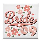 Pretty Pink 09 Bride Tile Coaster
