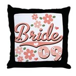 Pretty Pink 09 Bride Throw Pillow