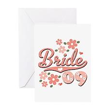 Pretty Pink 09 Bride Greeting Card