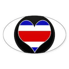 I love Costa Rica Flag Oval Decal