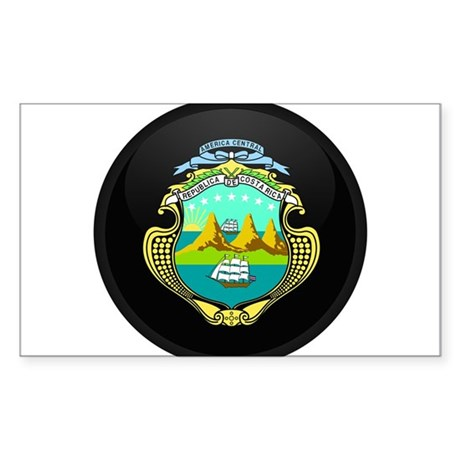 Coat of Arms of Costa Rica Rectangle Sticker