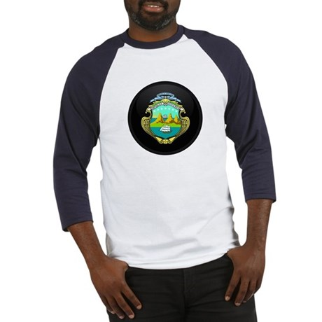 Coat of Arms of Costa Rica Baseball Jersey