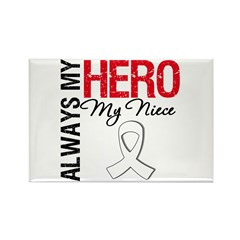 Lung Cancer Hero Niece Rectangle Magnet