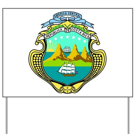Costa Rica Coat of Arms Yard Sign