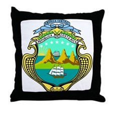 Costa Rica Coat of Arms Throw Pillow