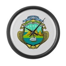 Costa Rica Coat of Arms Large Wall Clock