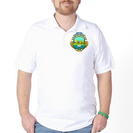 Costa Rica Coat of Arms Golf Shirt