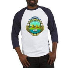 Costa Rica Coat of Arms Baseball Jersey