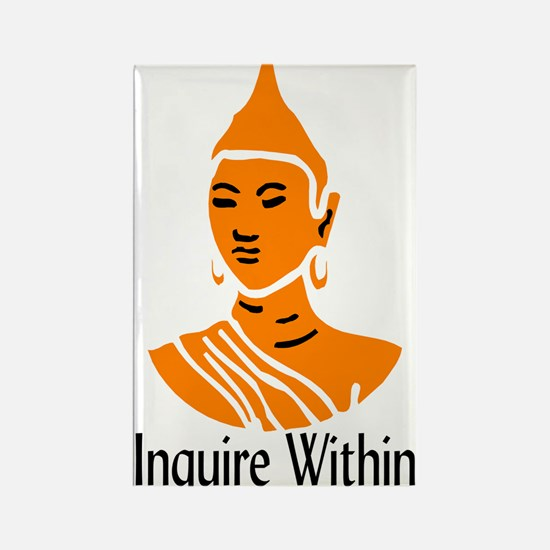 """Inquire Within"" Rectangle Magnet"