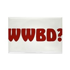 """WWBD?"" Rectangle Magnet"