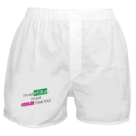 I'M NOT WEIRD Boxer Shorts