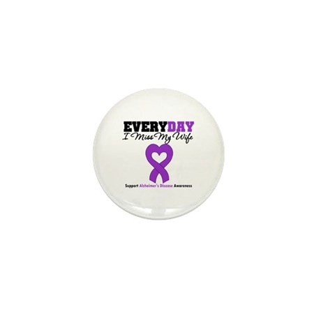Alzheimer's MissMyWife Mini Button