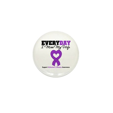 Alzheimer's MissMyWife Mini Button (100 pack)