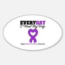 Alzheimer's MissMyWife Oval Decal