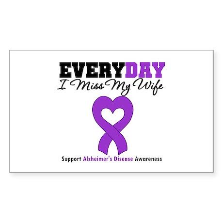 Alzheimer's MissMyWife Rectangle Sticker