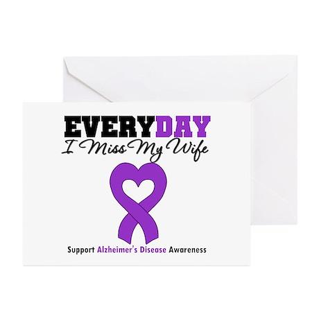 Alzheimer's MissMyWife Greeting Cards (Pk of 10)