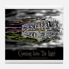 'Coming Into The Light' Tile Coaster