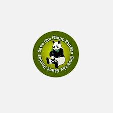 Save the Giant Pandas Mini Button