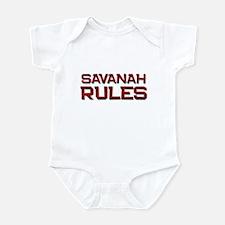 savanah rules Infant Bodysuit