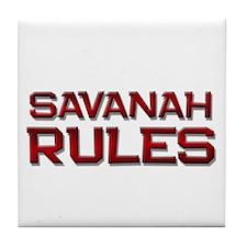 savanah rules Tile Coaster