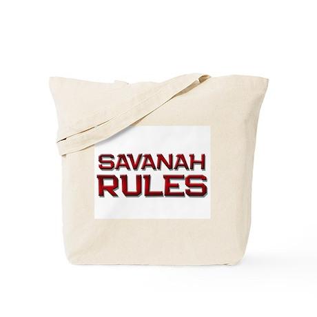 savanah rules Tote Bag