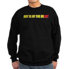 ART IS OF THE HEART (black te Sweatshirt