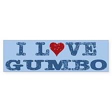 I love Heart Gumbo Bumper Bumper Sticker