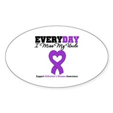 Alzheimer's MissMyUncle Oval Decal
