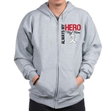 Lung Cancer Hero Mom Zip Hoodie