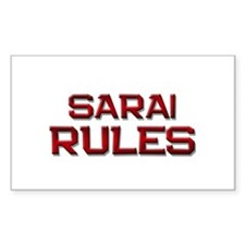 sarai rules Rectangle Decal