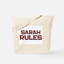 sarah rules Tote Bag