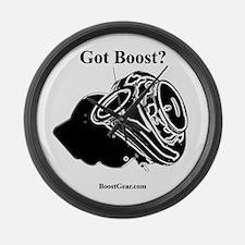 Got Boost? - Turbo - BoostGear - Large Wall Clock