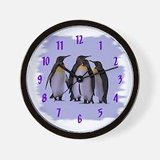 Penguins 4 Wall Clock 10inch