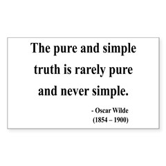 Oscar Wilde 4 Rectangle Decal