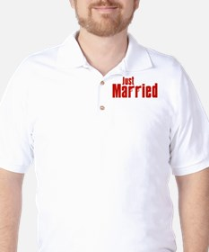 Just Married (Mafia Red) T-Shirt