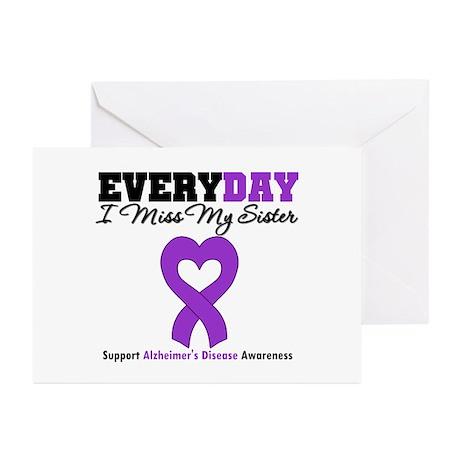 Alzheimer's MissMySister Greeting Cards (Pk of 20)