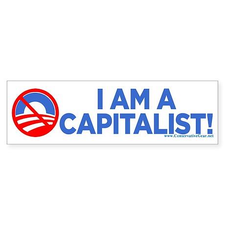 I Am A Capitalist Bumper Sticker