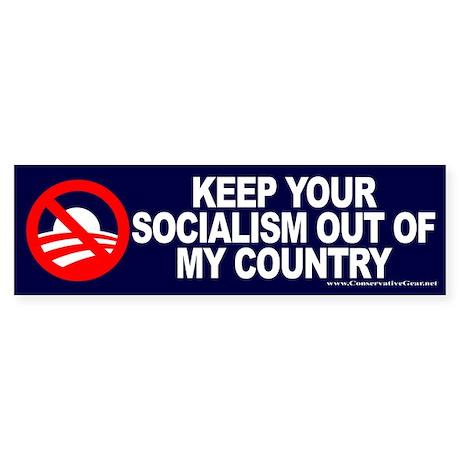 Keep Socialism Out of USA Bumper Sticker
