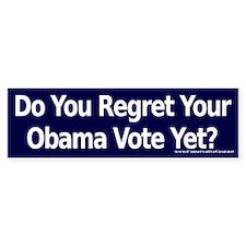 Do you Regret Your Obama Vote? Bumper Bumper Bumper Sticker