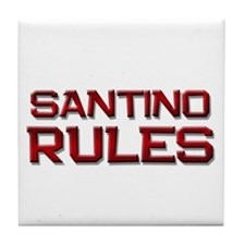 santino rules Tile Coaster
