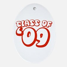 Class Of 09 (Red Bubble) Oval Ornament