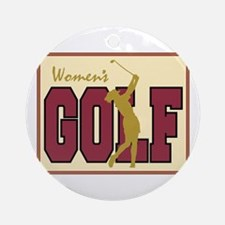 Women's Golf Ornament (Round)