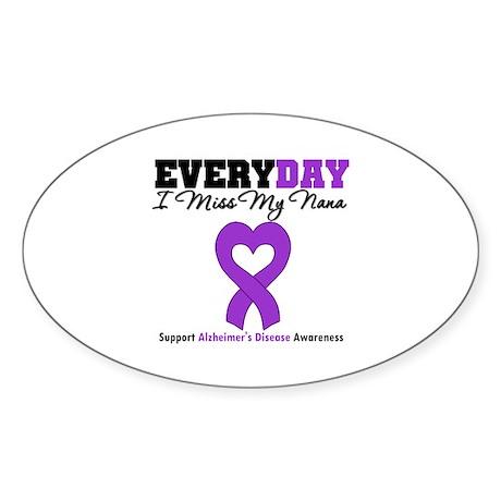 Alzheimer's MissMyNana Oval Sticker