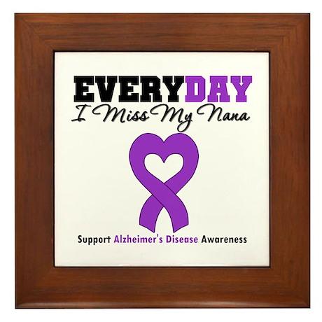 Alzheimer's MissMyNana Framed Tile