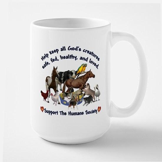 All Gods Creatures Large Mug