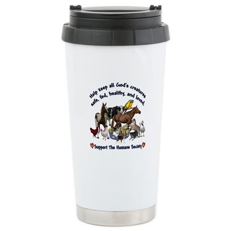 All Gods Creatures Stainless Steel Travel Mug