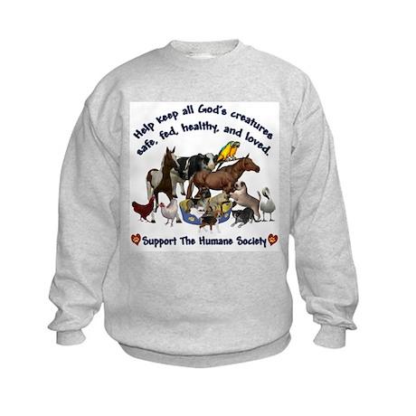 All Gods Creatures Kids Sweatshirt