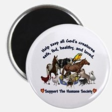"""All Gods Creatures 2.25"""" Magnet (10 pack)"""