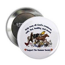 "All Gods Creatures 2.25"" Button"