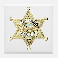Orange County Sheriff Tile Coaster